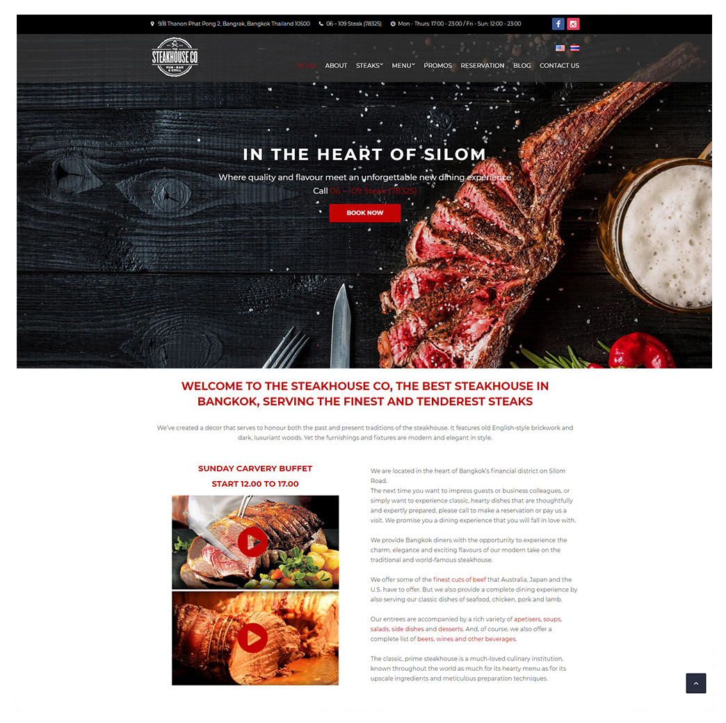 The Steak House Co: The Finest and Tenderest Steaks in Bangkok